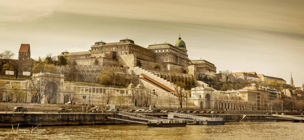 Buda district Budapest as seen from the Danube