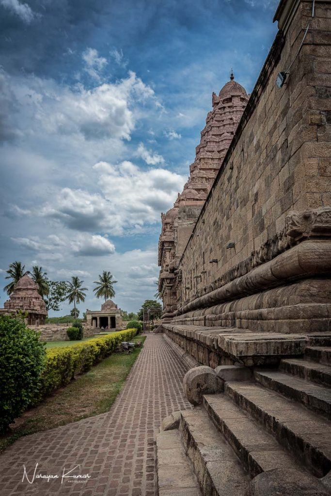 Passage in old Hindu temple