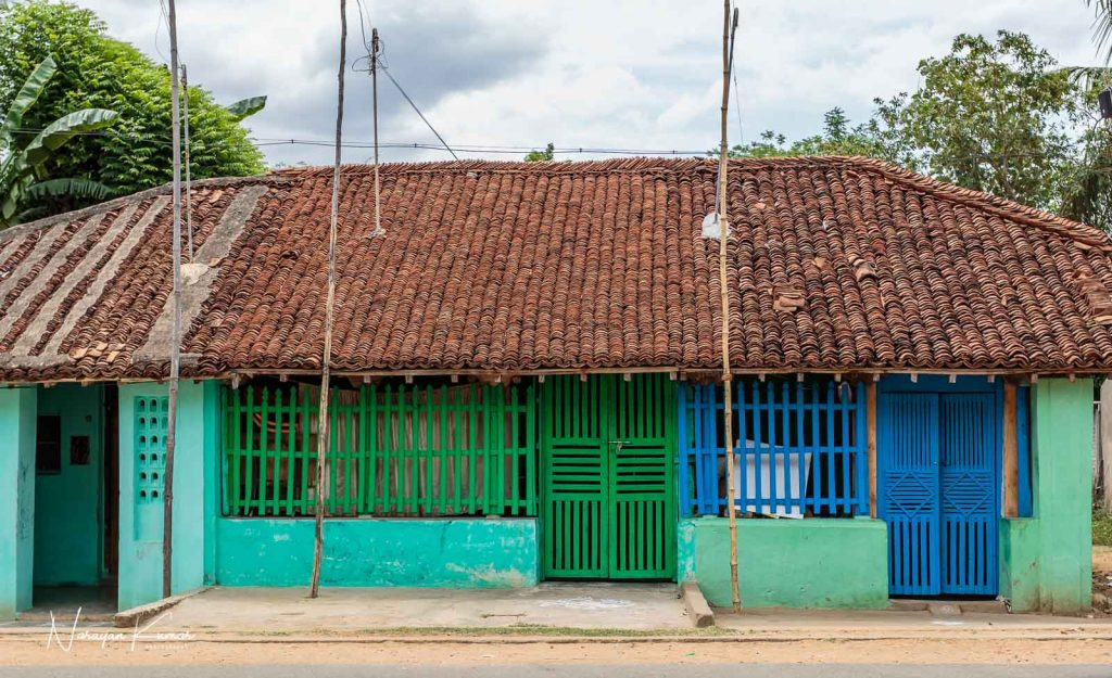Indian rural house in South Indian village